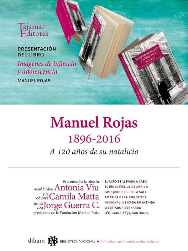 """Presentación de reedición de """"Imágenes de infancia y adolescencia"""" de Manuel Rojas – 21.04.2016"""
