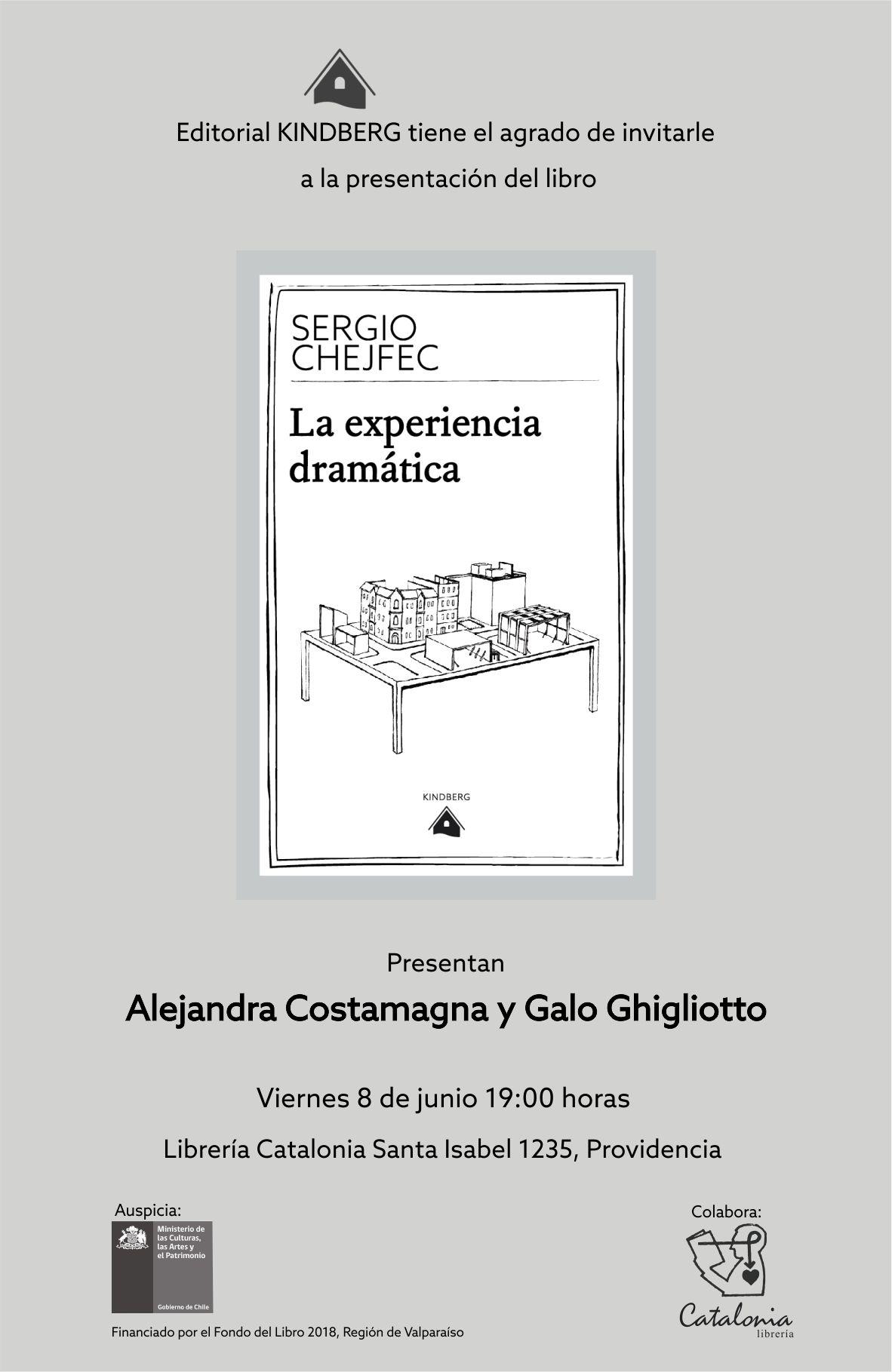 Lanzamiento: La experiencia dramática de Sergio Chefjec – Ed. Kindberg (08-06-2018)